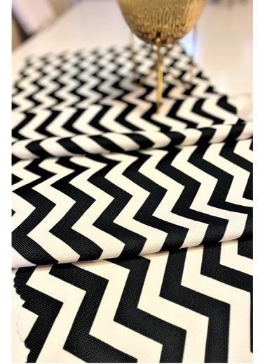 Alla Turca Runner-Zigzag Siyah Beyaz Renkli